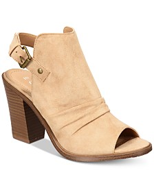 Esprit Nicola Open-Toe Block-Heel Booties