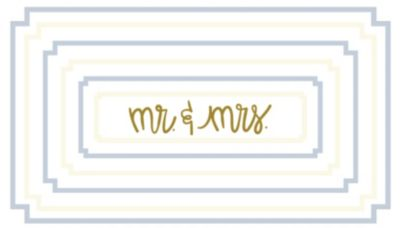 by Laura Johnson Mr. and Mrs.  Rectangle Notch Tray