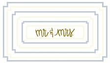 Coton Colors Mr. and Mrs.  Rectangle Notch Tray