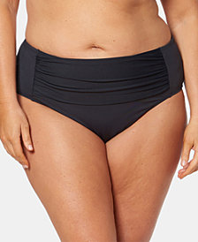 Bleu By Rod Beattie Plus Size High-Waist Swim Bottoms