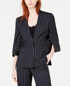 Rachel Zoe Lina Split-Sleeve Sequined-Trim Jacket