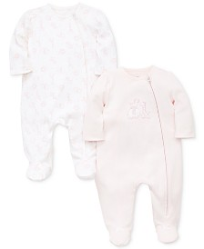 Little Me Baby Girls 2-Pack Cotton Coveralls