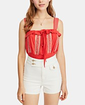 e8d3cb2d60 Free People Embroidered Hill Crop Top