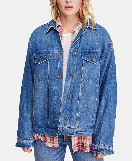 Free People Ramona Cotton Denim Trucker Jacket