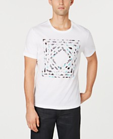 Alfani Men's Dry Brush Graphic T-Shirt, Created for Macy's