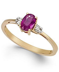 Ruby (5/8 ct. t.w.) & Diamond Accent Solitaire Ring in 14k Gold