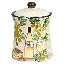 Lorren Home Trends White Grape Ceramic Cookie jar