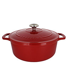Chasseur French Enameled Cast Iron 5.25 Qt. Round Dutch Oven