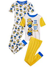 Despicable Me Little & Big Boys 4-Pc. Minions Cotton Pajama Set