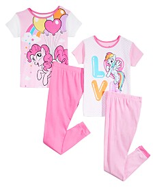 AME Little & Big Girls 4-Pc. My Little Pony Cotton Pajama Set