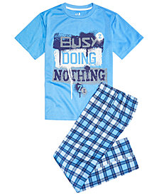 Max & Olivia Big Boys 2-Pc. Busy Pajama Set