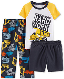Carter's 3-Pc. Toddler Boys Hard Work Cotton Pajamas Set