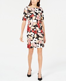 Alfani Petite Floral-Print Sheath Dress, Created for Macy's