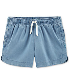 Carter's Little Girls Chambray Cotton Shorts