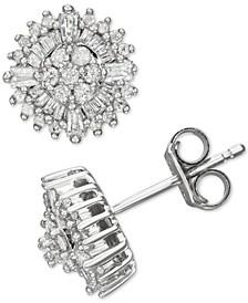 Diamond Burst Stud Earrings (1/2 ct. t.w.) in Sterling Silver