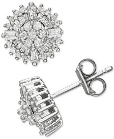 Diamond Burst Stud Earrings (1/2 ct. t.w.) in Sterling Silver