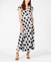 7eba905017391 I.N.C. Printed Faux-Wrap Midi Dress
