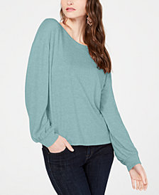 I.N.C. Long-Sleeve Knit Top, Created for Macy's