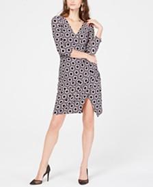 I.N.C. Geo-Print Wrap Dress, Created for Macy's