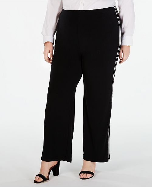 5882b29818b ... Alfani Plus Size Side-Stripe Wide-Leg Pants