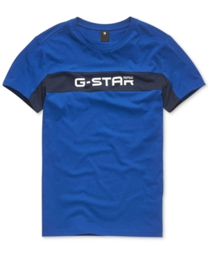 G-Star Raw T-shirts G-STAR RAW MEN'S COLORBLOCKED LOGO GRAPHIC T-SHIRT, CREATED FOR MACY'S