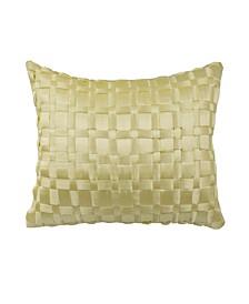 Floral Engagement Satin Decorative Pillow