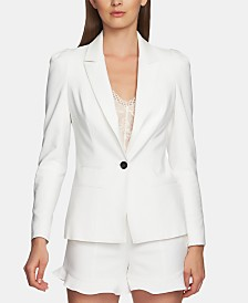 1.STATE One-Button Fitted Blazer