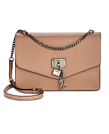 DKNY Elissa Leather Medium Shoulder Flap, Created for Macy's