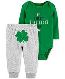 Carter's Baby Boys 2-Pc. Shamrock Graphic Bodysuit & Pants Set