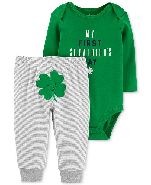 9987b3f7f1 ... Pants Set  Carter s Baby Boys 2-Pc. Shamrock Graphic Bodysuit ...
