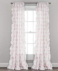 "Ruffle Fox Window Curtain Panels Set, 84"" x 40"""