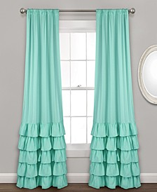 "Allison 40"" x 84"" Ruffle Curtain Set"