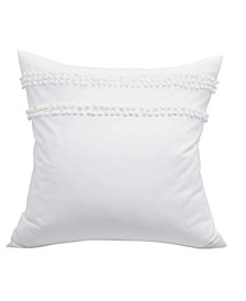 Pom Pom White European Sham Pair