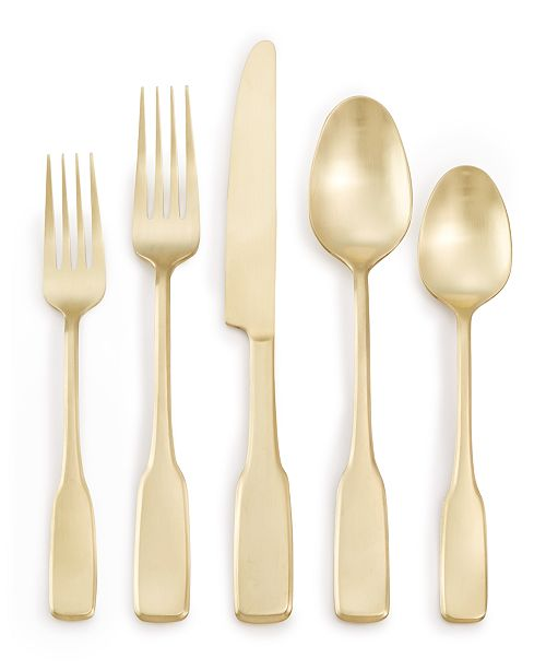 Martha Stewart Collection Fiddlehead Champagne 20-Pc. Flatware Set, Service for 4, Created for Macy's