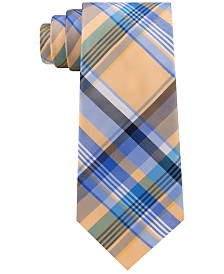 Tommy Hilfiger Men's Barbecue Plaid Silk Tie