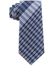 Tommy Hilfiger Men's Exploded Plaid Silk Tie
