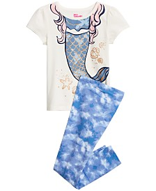 Epic Threads Little Girls Mermaid Graphic T-Shirt & Cloud-Print Leggings Separates, Created for Macy's
