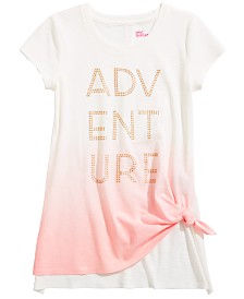 Epic Threads Big Girls Ombré Tie-Front T-Shirt, Created for Macy's