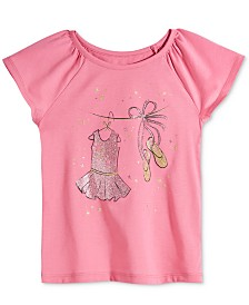 Epic Threads Toddler Girls Ballerina Graphic T-Shirt, Created for Macy's