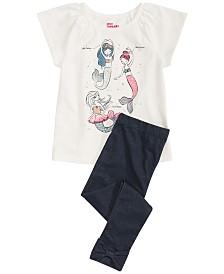 Epic Threads Little Girls Three Mermaids Top & Denim Leggings Separates, Created for Macy's
