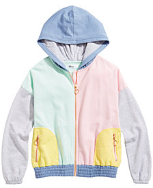 Epic Threads Big Girls Colorblocked Hoodie, Created for Macy's