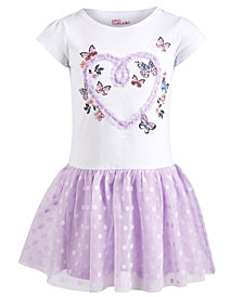 Epic Threads Little Girls Butterfly Mesh Dress, Created for Macy's