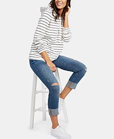 Motherhood Maternity BOUNCEBACK Post Pregnancy Distressed Cropped Jeans