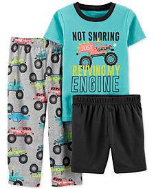 Carter's Toddler Boys 3-Pc. Truck Pajamas Set