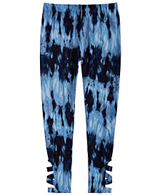 Epic Threads Big Girls Cage-Detail Tie-Dyed Leggings, Created for Macy's