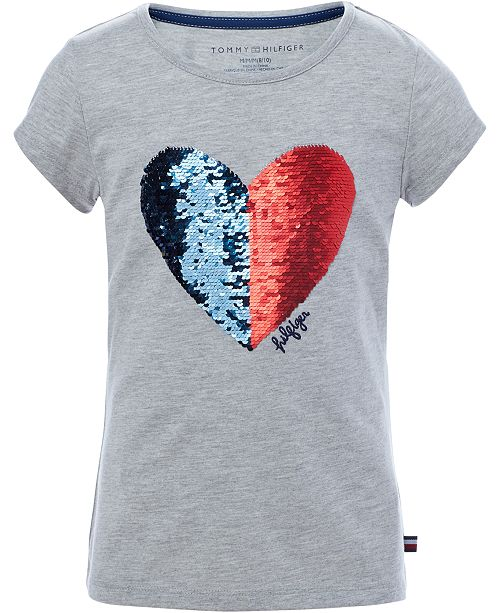 4ce724a6680 Tommy Hilfiger Big Girls Reversible Sequin T-Shirt   Reviews ...