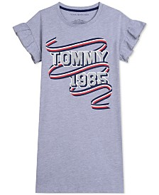 Tommy Hilfiger Toddler Girls Graphic-Print T-Shirt Dress