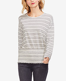 Vince Camuto Striped Smocked Top