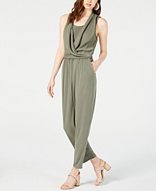 Sleeveless Draped Jumpsuit, Created for Macy's