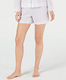 Charter Club Woven Cotton Pajama Shorts, Created for Macy's